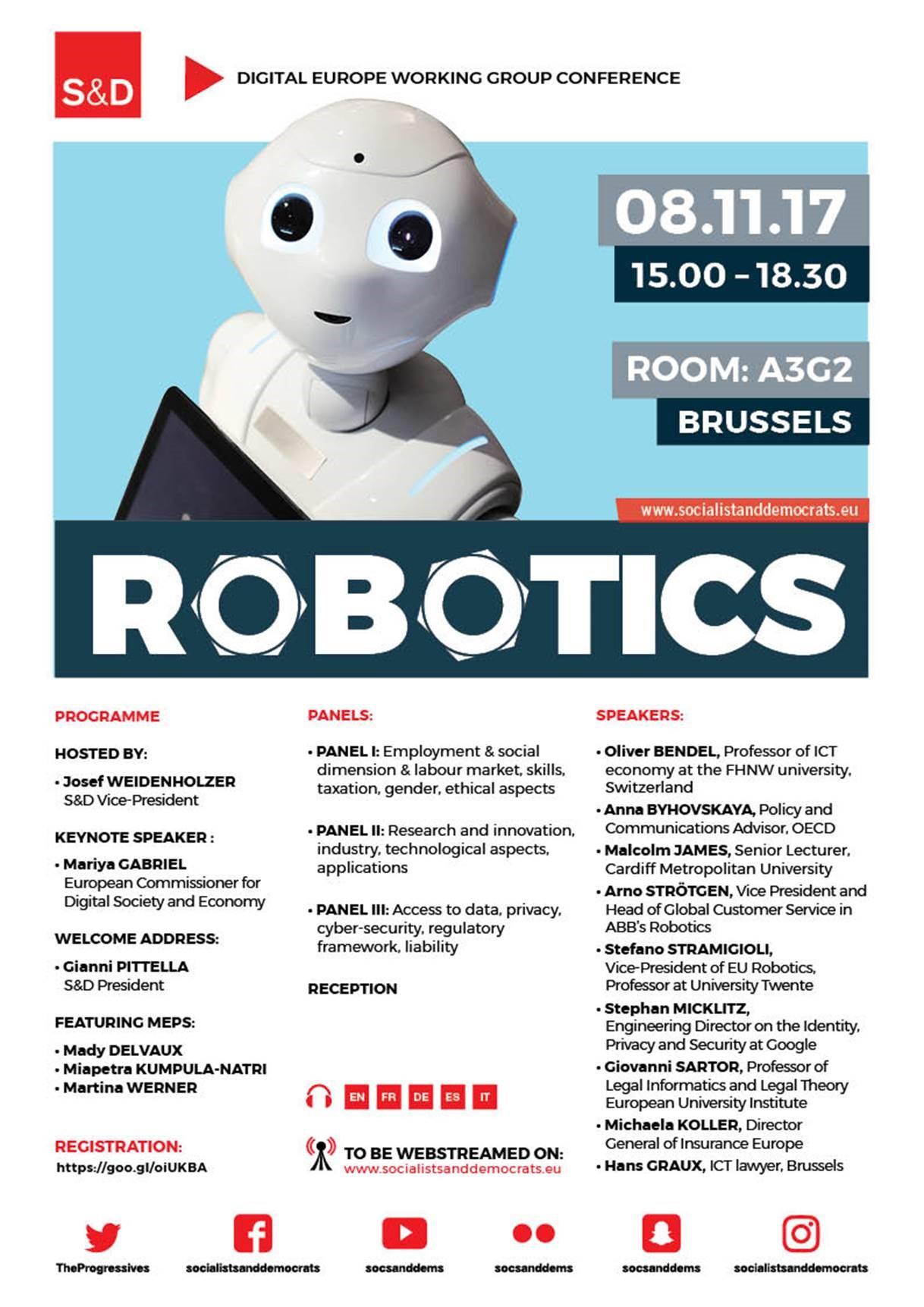 Robotics Conference at the European Parliament